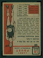 1957-1958 Topps #18 Larry Foust Minneapolis Lakers - Back