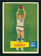 1957-1958 Topps #18 Larry Foust Minneapolis Lakers - Front