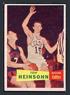 1957-1958 Topps #19 Tom Heinsohn Boston Celtics - Front