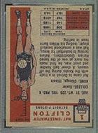 1957-1958 Topps #1 Nat Clifton Detroit Pistons - Back