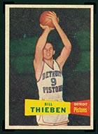 1957-1958 Topps #20 Bill Thieben Detroit Pistons - Front
