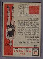 1957-1958 Topps #21 Don Meineke Cincinnati Royals - Back