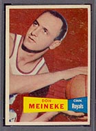 1957-1958 Topps #21 Don Meineke Cincinnati Royals - Front