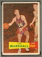 1957-1958 Topps #22 Tom Marshall Cincinnati Royals - Front