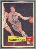 1957-1958 Topps #23 Dick Garmaker Minneapolis Lakers - Front