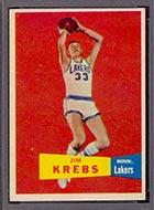 1957-1958 Topps #25 Jim Krebs Minneapolis Lakers - Front