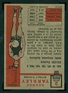 1957-1958 Topps #2 George Yardley Detroit Pistons - Back