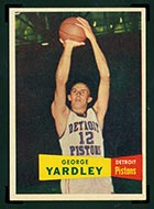 1957-1958 Topps #2 George Yardley Detroit Pistons - Front