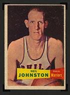 1957-1958 Topps #3 Neil Johnston Philadelphia Warriors - Front