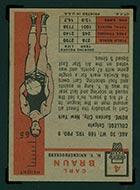 1957-1958 Topps #4 Carl Braun New York Knicks - Back