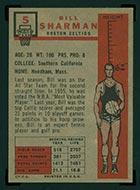 1957-1958 Topps #5 Bill Sharman Boston Celtics - Back