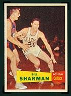 1957-1958 Topps #5 Bill Sharman Boston Celtics - Front
