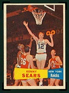 1957-1958 Topps #7 Kenny Sears New York Knicks - Front