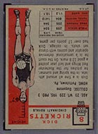 1957-1958 Topps #8 Dick Ricketts Cincinnati Royals - Back