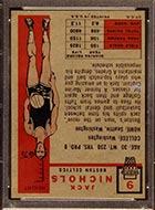 1957-1958 Topps #9 Jack Nichols Boston Celtics - Back