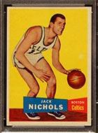 1957-1958 Topps #9 Jack Nichols Boston Celtics - Front