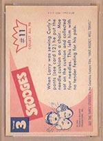 1959 Fleer Three Stooges #11 Needling Moe - White Back