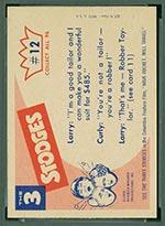 1959 Fleer Three Stooges #12 I'm a tailor - White Back
