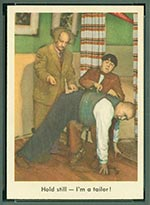 1959 Fleer Three Stooges #12 I'm a tailor - Front