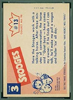 1959 Fleer Three Stooges #13 Which is the horse - White Back