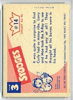 1959 Fleer Three Stooges #14 X-Ray - White Back