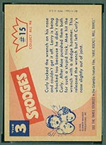 1959 Fleer Three Stooges #15 Open your mouth - White Back