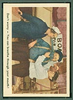 1959 Fleer Three Stooges #15 Open your mouth - Front