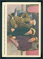 1959 Fleer Three Stooges #16 Tight shoes (checklist) - Front
