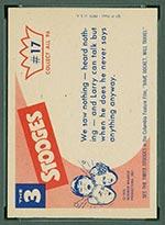 1959 Fleer Three Stooges #17 See no evil - White Back