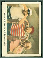 1959 Fleer Three Stooges #17 See no evil - Front