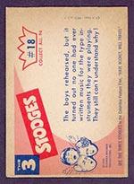 1959 Fleer Three Stooges #18 One more rehearsal - White Back