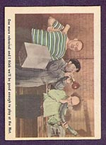 1959 Fleer Three Stooges #18 One more rehearsal - Front