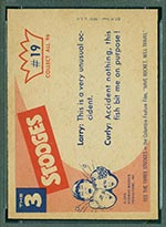 1959 Fleer Three Stooges #19 Curly gets a bite - White Back