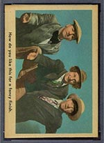 1959 Fleer Three Stooges #20 Fancy Finish - Front