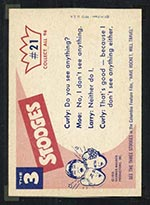 1959 Fleer Three Stooges #21 Peek-a-boo - White Back
