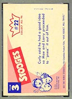 1959 Fleer Three Stooges #22 Putting pressure on - White Back