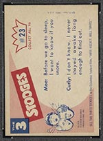 1959 Fleer Three Stooges #23 Early to bed - White Back