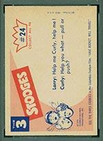 1959 Fleer Three Stooges #24 Look out below - White Back