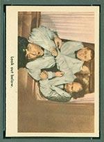 1959 Fleer Three Stooges #24 Look out below - Front