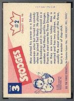 1959 Fleer Three Stooges #2 Moe - White Back