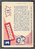 1959 Fleer Three Stooges #3 Larry - White Back