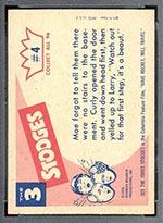 1959 Fleer Three Stooges #4 Room in basement - White Back