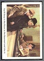 1959 Fleer Three Stooges #4 Room in basement - Front
