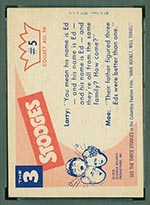 1959 Fleer Three Stooges #5 They went thattaway - White Back
