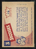 1959 Fleer Three Stooges #6 One more bag - White Back
