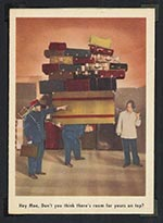 1959 Fleer Three Stooges #6 One more bag - Front