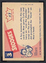 1959 Fleer Three Stooges #7 Carpet capers - White Back