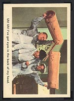 1959 Fleer Three Stooges #7 Carpet capers - Front