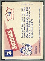 1959 Fleer Three Stooges #8 I told you so - White Back