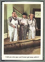 1959 Fleer Three Stooges #8 I told you so - Front